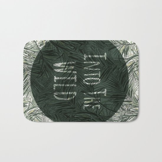 into the wild *palms Bath Mat