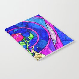 Beauty And The Beast Red Rose Flower Notebook