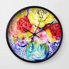My Best Friend's Flowers Wall Clock