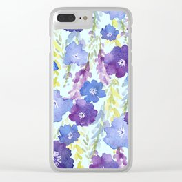 dephinium cascade Clear iPhone Case