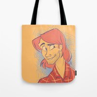 sam smith Tote Bags featuring Sam by The Art of Nicole