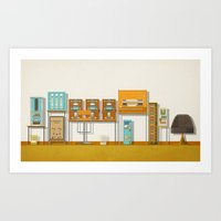 the grand budapest hotel Art Prints featuring The Grand Budapest Hotel  by Daniel long Illustration