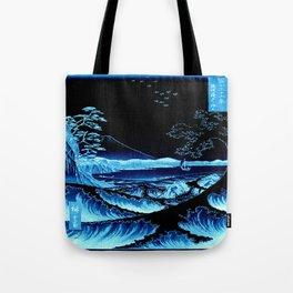 The Sea at Satta : Blue Tote Bag