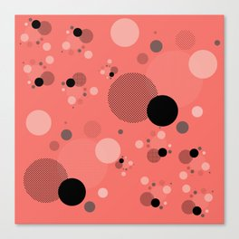 Coral Dots Canvas Print