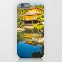 The Golden Pavilion Garden Landscape in Kyoto, Japan. iPhone Case