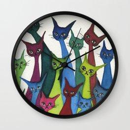 Coronado Whimsical Cats Wall Clock