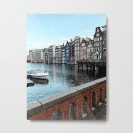 Colorful Dutch Canal Houses | City Amsterdam The Netherlands | Europe Travel Photography Art Print Metal Print