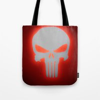 punisher Tote Bags featuring Punisher 2 by Beastie Toyz