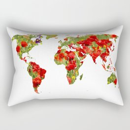 World of Poppies Rectangular Pillow