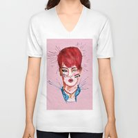 key V-neck T-shirts featuring Key by Isaacson1974