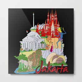 Jakarta Indonesia Metal Print