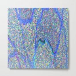 Beautiful Blue Surface Metal Print