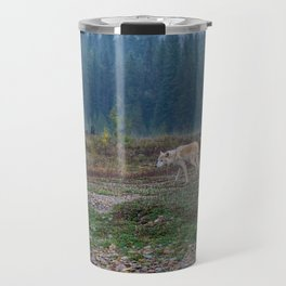 White Wolf in the Wilderness Travel Mug