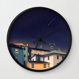 Castles at Night Wall Clock