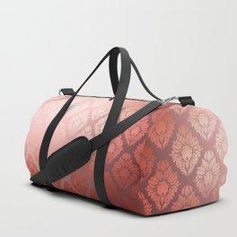 """Millennial Pink Damask Pattern"" Duffle Bag"