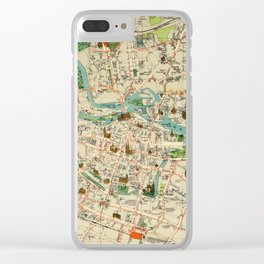Vintage Map of Wroclaw Poland (1910) Clear iPhone Case