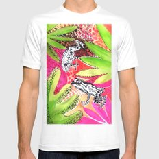 Happy Frogs MEDIUM Mens Fitted Tee White