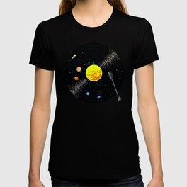 Solar System Vinyl Record T-shirt