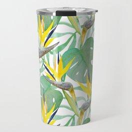 Tropical Birds Of Paradise Travel Mug