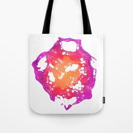 Pink and Orange Latex Flower Tote Bag