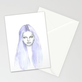 purple hair Stationery Cards