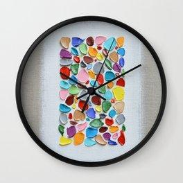 Mosaic Polka Daubs Wall Clock