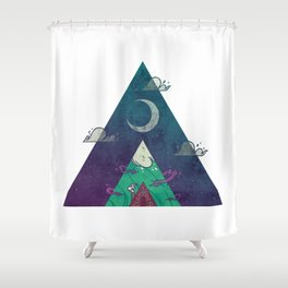 At the Cabin Shower Curtain