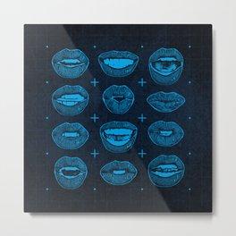 Talking Lips Metal Print