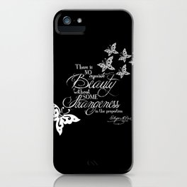 Strange Skullerflies - EA Poe Quote iPhone Case