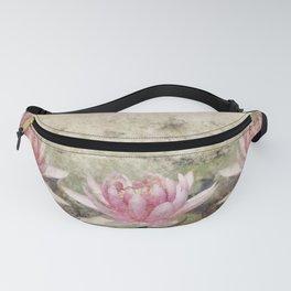 Pink Lotus Grunge Fanny Pack