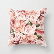 Magic rose garden Throw Pillow