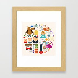 Alice in wonderland + Three Little Pigs aka ALIPIGS Framed Art Print