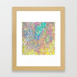 Pastel Abstract Blocks Framed Art Print