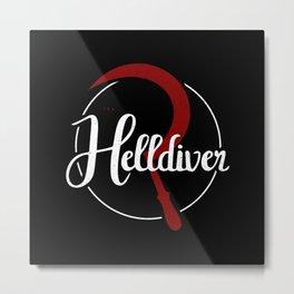 The Helldiver Metal Print
