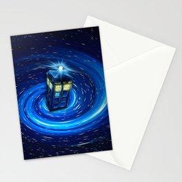 Tardis Blue Vortex Stationery Cards
