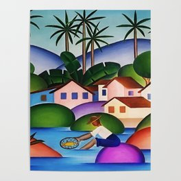 Classical Masterpiece 'An Angler' by Tarsila do Amaral Poster