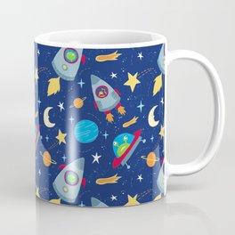 Fun Space Rockets and Aliens Coffee Mug