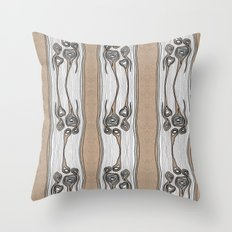 Wood Bones Throw Pillow