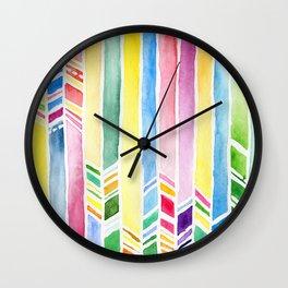 watercolor abstraction Wall Clock