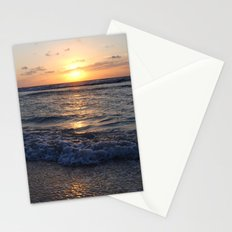 sunrise over the ocean Stationery Cards