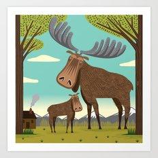 The Magnificent Moose Art Print