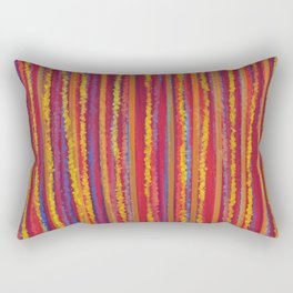 Stripes  - Cheerful yellow orange red and blue Rectangular Pillow