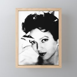 dorothy dandridge black & white photo Framed Mini Art Print