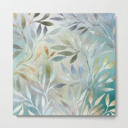 Painted Leaves Metal Print