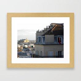 Waking up in Paris  Framed Art Print