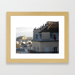 Waking up in Paris  Framed Art Print