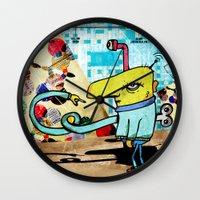 clockwork Wall Clocks featuring Clockwork by jnk2007