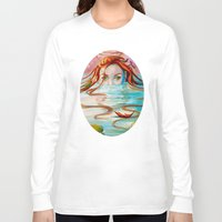 siren Long Sleeve T-shirts featuring Siren  by Amanda Sharples Illustration