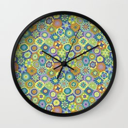 Millefiori-Jardin Colors Wall Clock