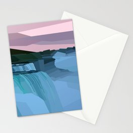 Geometric Niagara Falls, Canada USA Stationery Cards